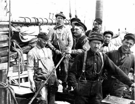 Crew of the power schooner UNION JACK, Alaska, May 1913 .jpeg